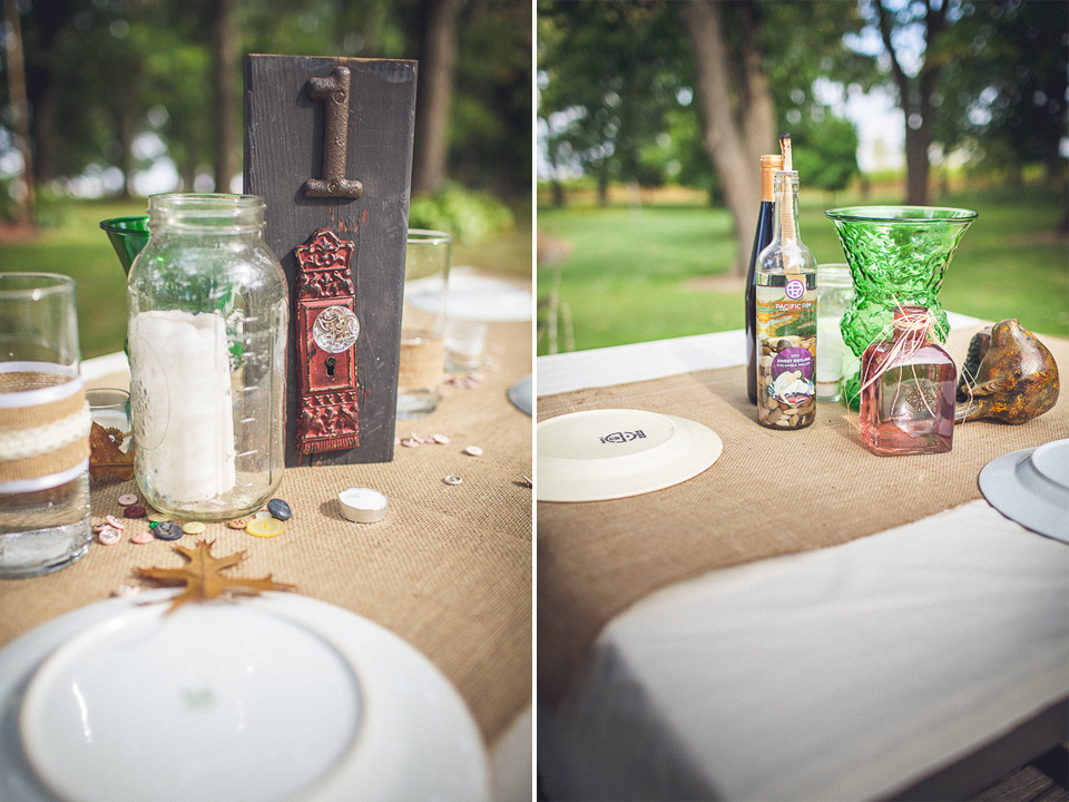 11 farm house wedding details - Rural Chicago Wedding Photographer // Chantel + Chris