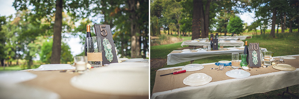 12 special setting details for wedding - Rural Chicago Wedding Photographer // Chantel + Chris