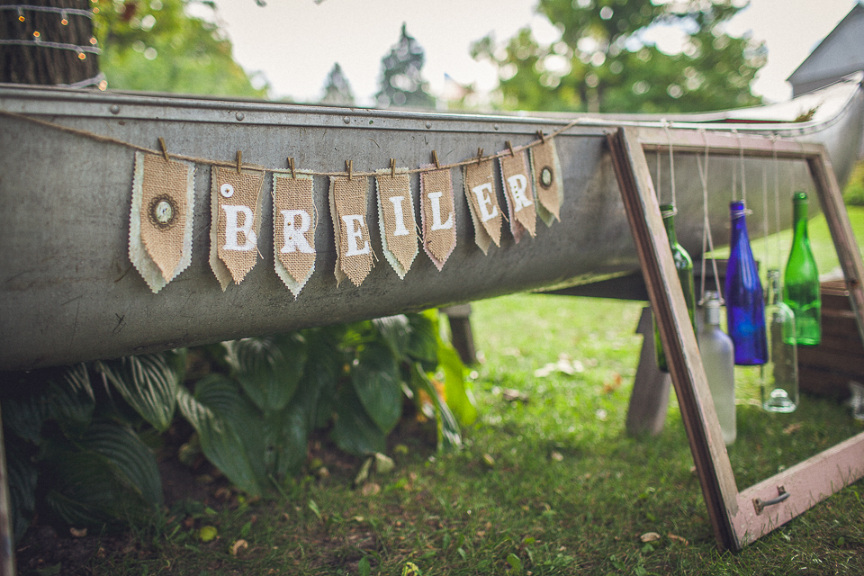 16 groom name on boat for wedding - Rural Chicago Wedding Photographer // Chantel + Chris