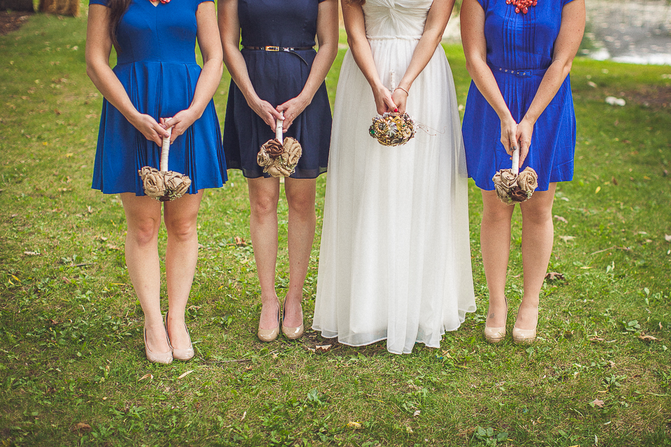 25 1 bridesmaids being funny - Rural Chicago Wedding Photographer // Chantel + Chris