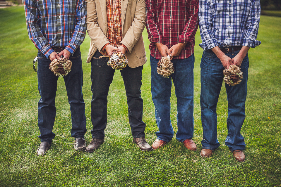 25 groomsmen being funny - Rural Chicago Wedding Photographer // Chantel + Chris