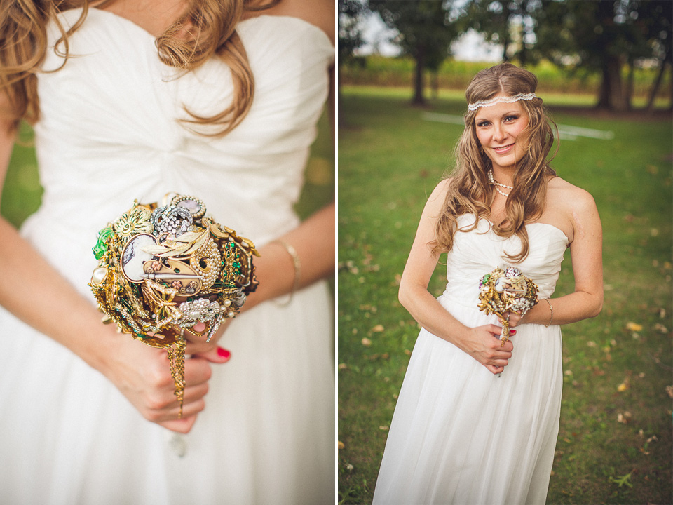 41 bride portrait with bouquet - Rural Chicago Wedding Photographer // Chantel + Chris