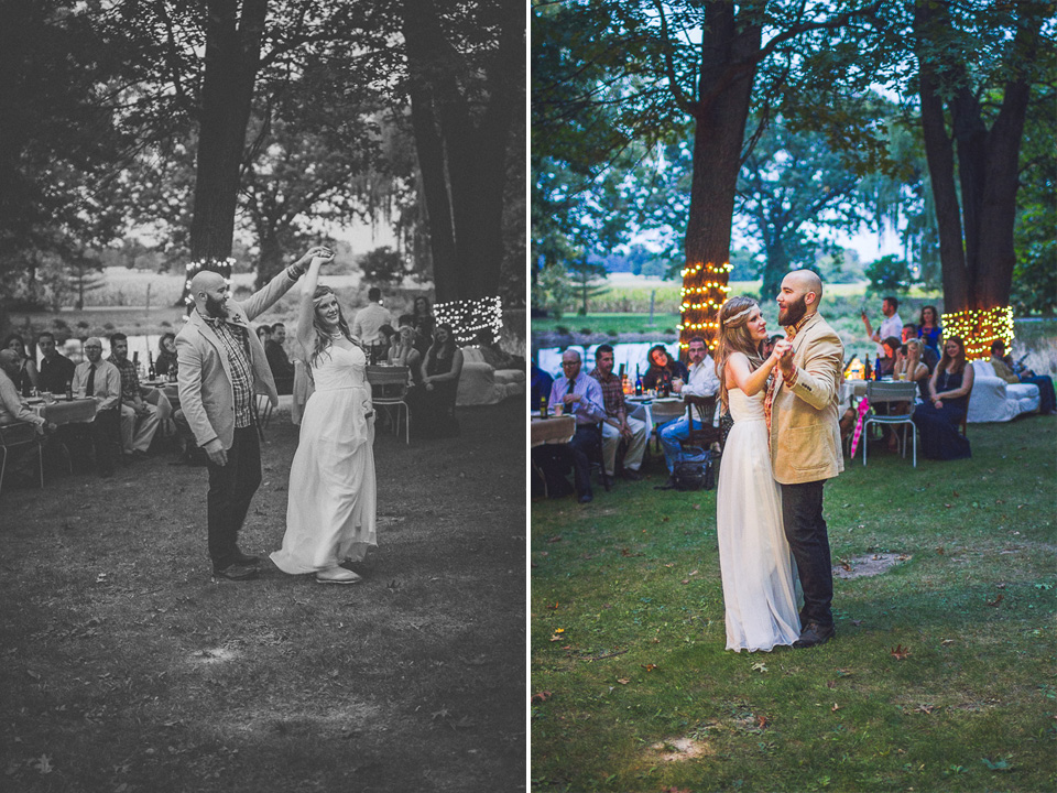 58 first dance on a farm - Rural Chicago Wedding Photographer // Chantel + Chris