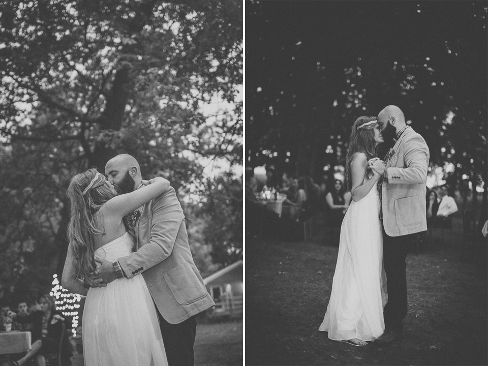 60 first dance in black and white - Rural Chicago Wedding Photographer // Chantel + Chris