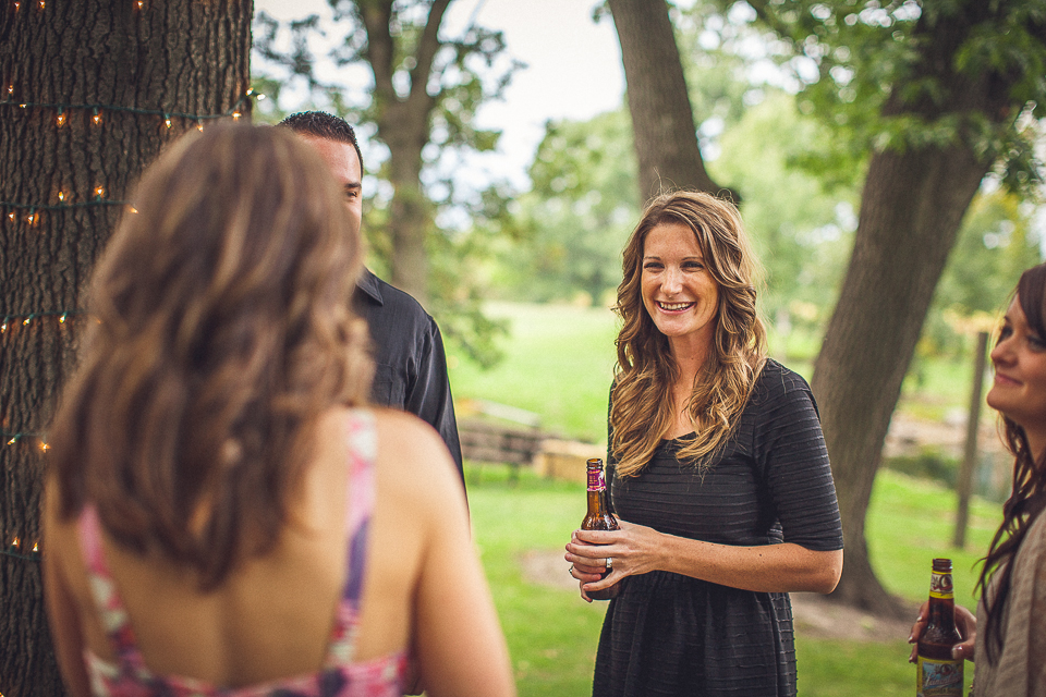 70 reception at farm wedding - Rural Chicago Wedding Photographer // Chantel + Chris