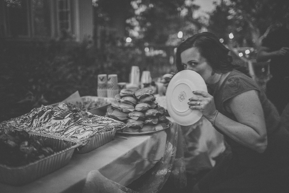 73 stealing food at farm wedding - Rural Chicago Wedding Photographer // Chantel + Chris