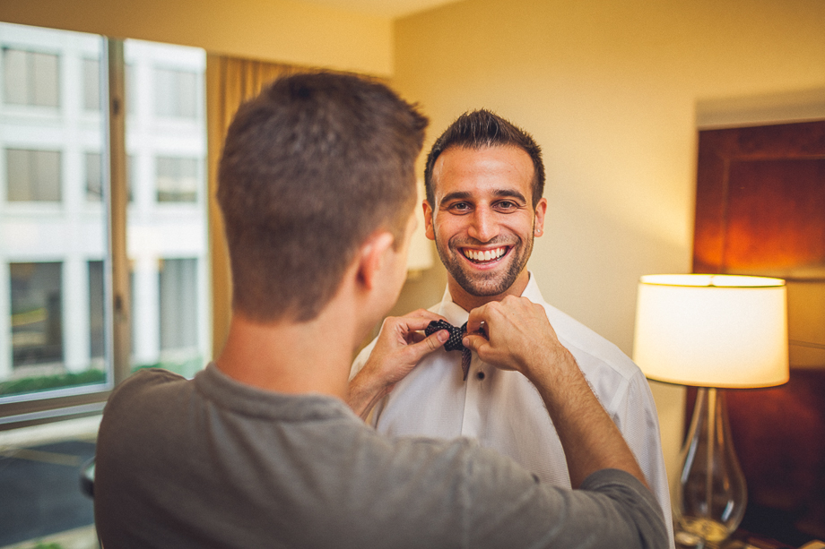 01 groom getting ready chicago wedding photographer