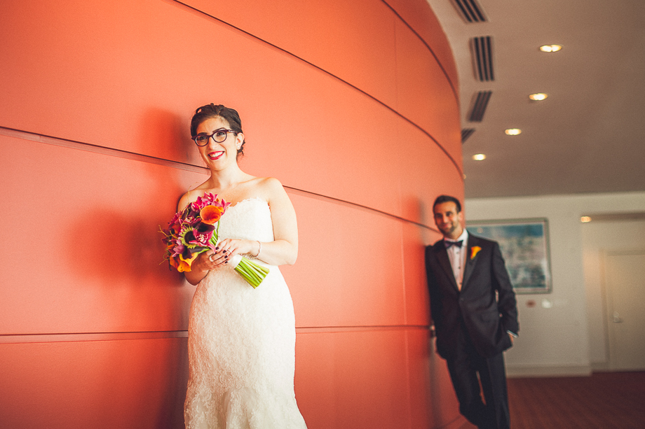 04 bride groom creative portrait  chicago wedding photographer