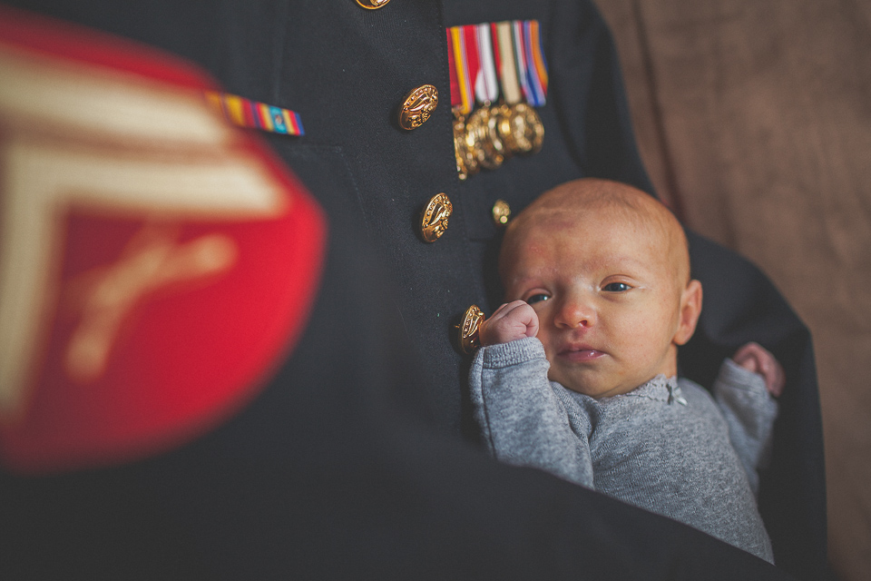 07 infant on dads marines uniform - Zmysly Family <> Portraits of a Hero & His Family