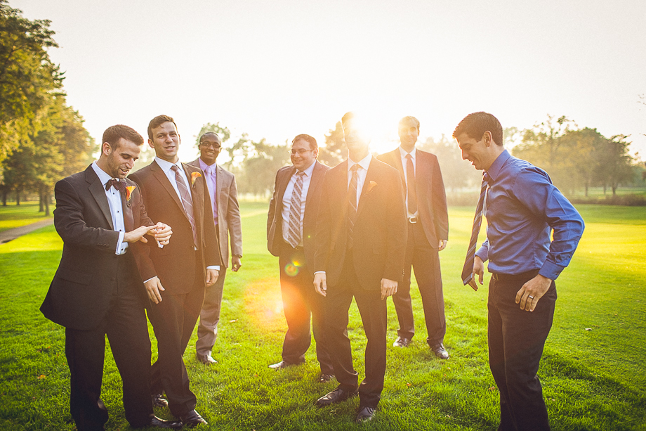 12 groomsmen portrait  chicago wedding photographer