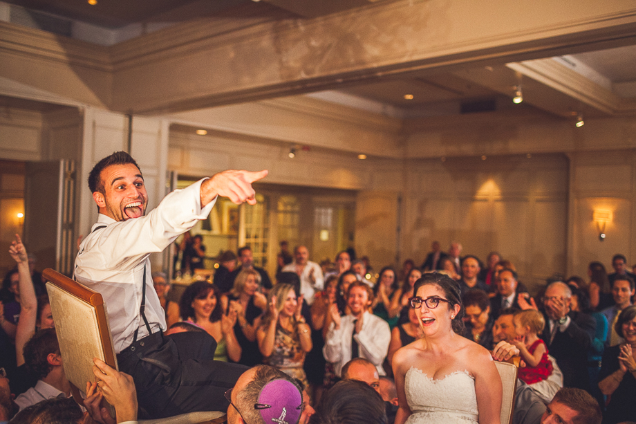 35 great time at reception  chicago wedding photographer