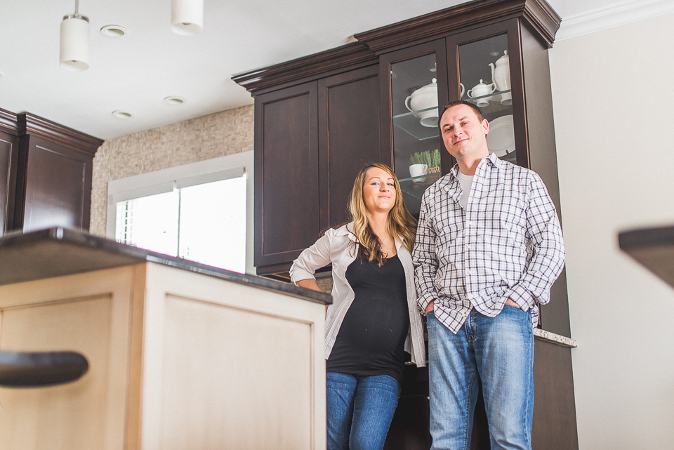 03 mom and dad in the kitchen - Maternity & Family Photography in Oakbrook <> Wojcicki Family