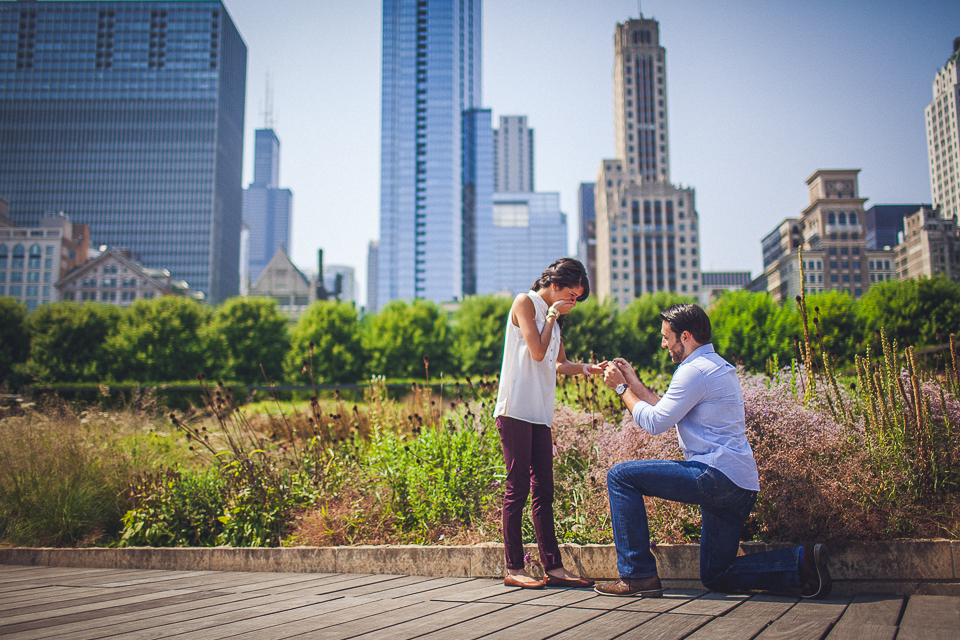 Surprise Wedding Proposal Downtown Chicago || Cassie + Jason
