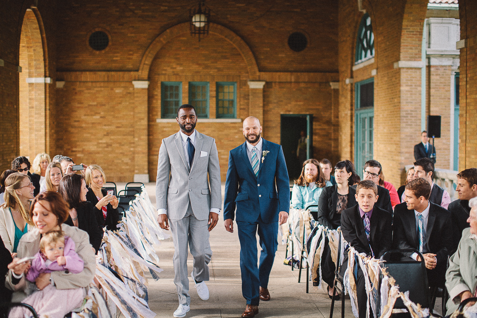 31 groom coming down the isle - Wedding Photographer in Chicago // Jessica + Aaron