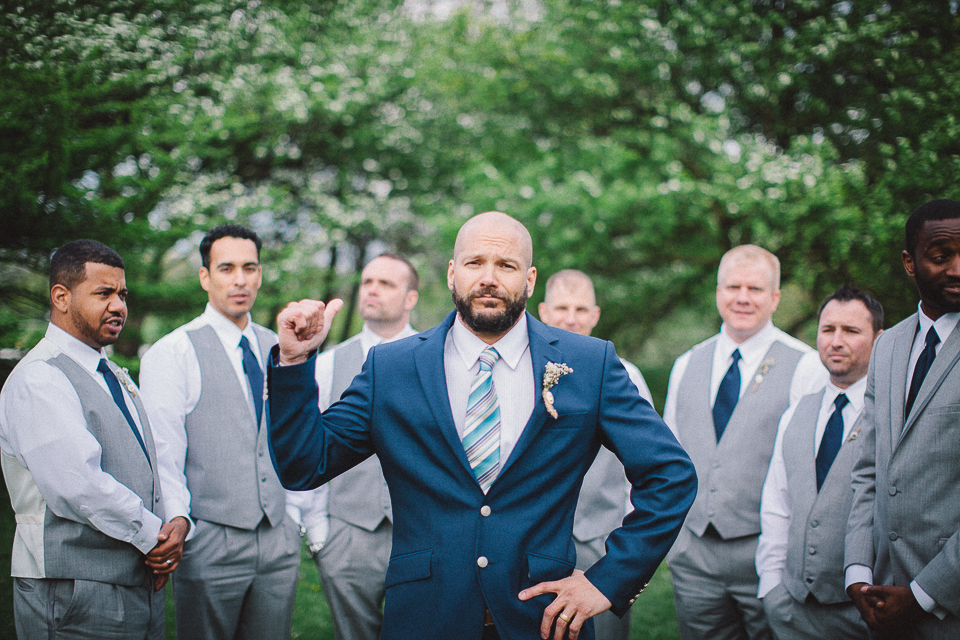50 groom and his groosmen at chicago wedding