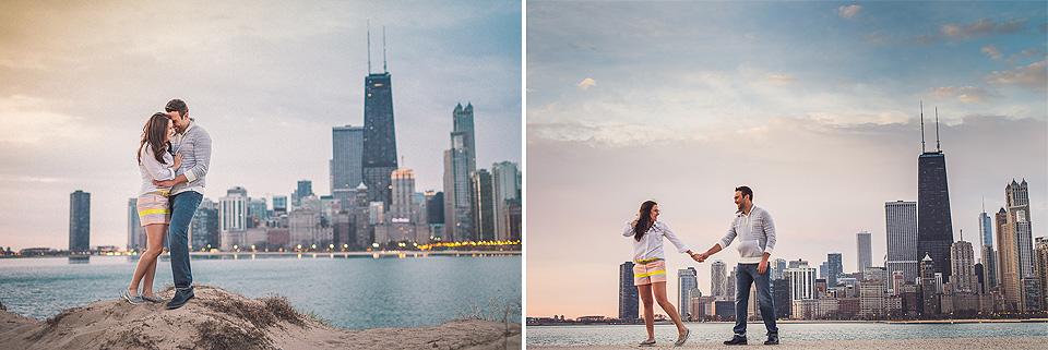 02 1 couple in love - Kindal + Mike // Engagement Photo Shoot in Downtown Chicago
