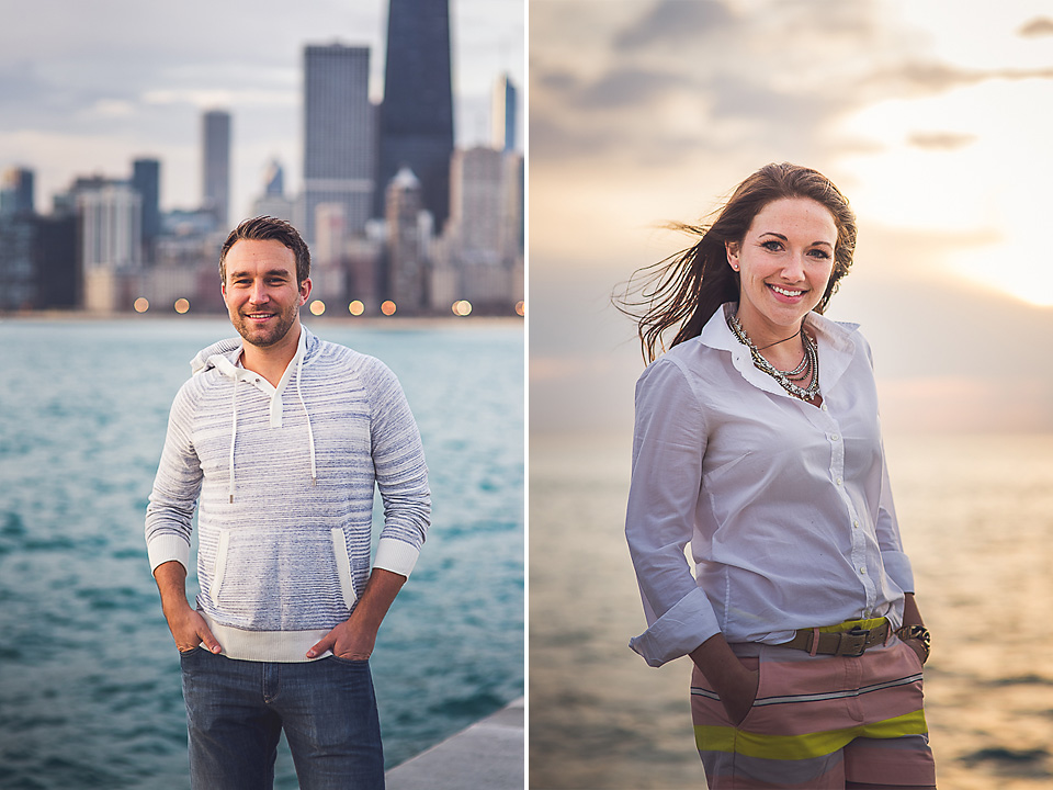 06 couple composite portrats in chicago - Kindal + Mike // Engagement Photo Shoot in Downtown Chicago