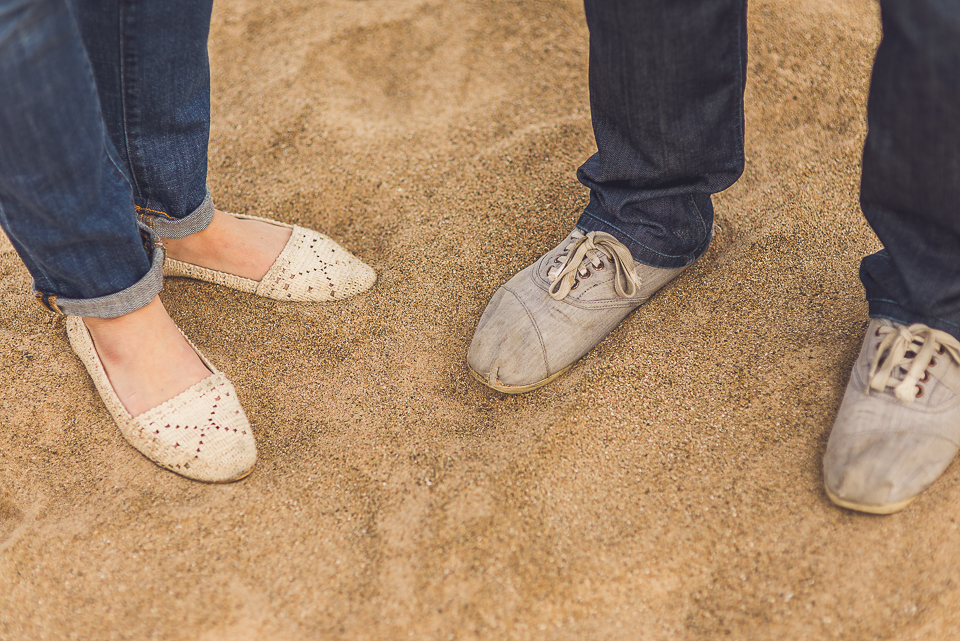 08 on the sand - Sam + Jason // Grosse Point Evanston IL Engagement Session