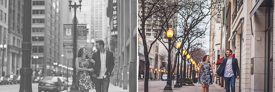 10 walking in chicago - Kindal + Mike // Engagement Photo Shoot in Downtown Chicago