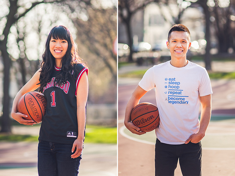 12 sports portraits - Chicago IL Engagement Photos // Anne + Dennis