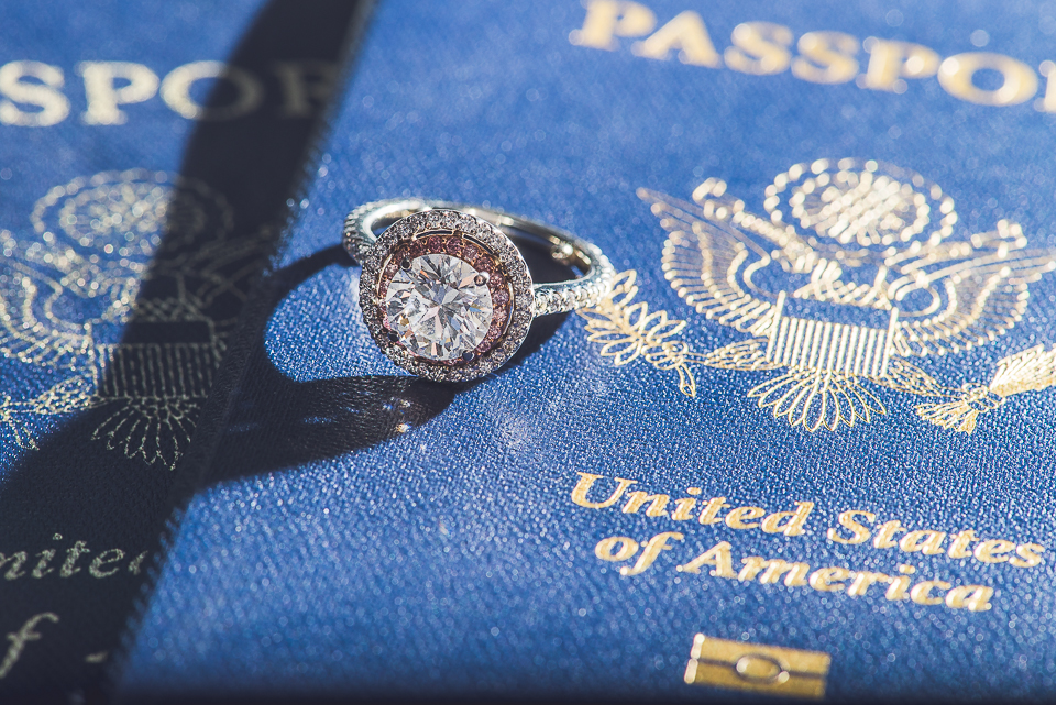 15 ring and passports - Kindal + Mike // Engagement Photo Shoot in Downtown Chicago