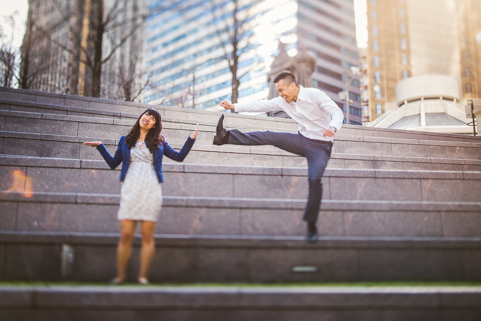 16 ninja jump in chicago - Chicago IL Engagement Photos // Anne + Dennis