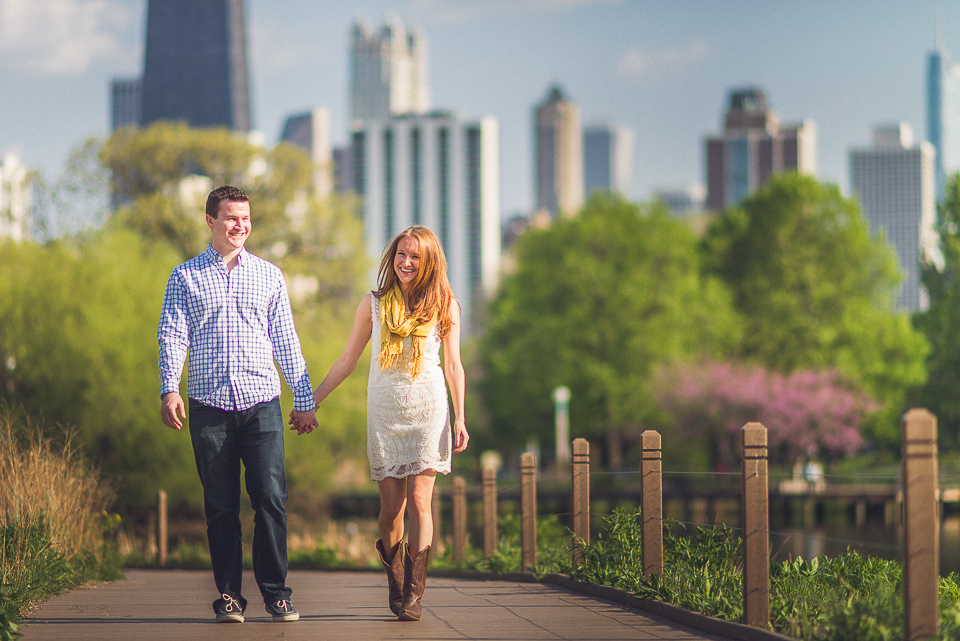 01 couple walking through lincoln park zoo in chicago - Amy + Pat // Chicago Engagement Photography