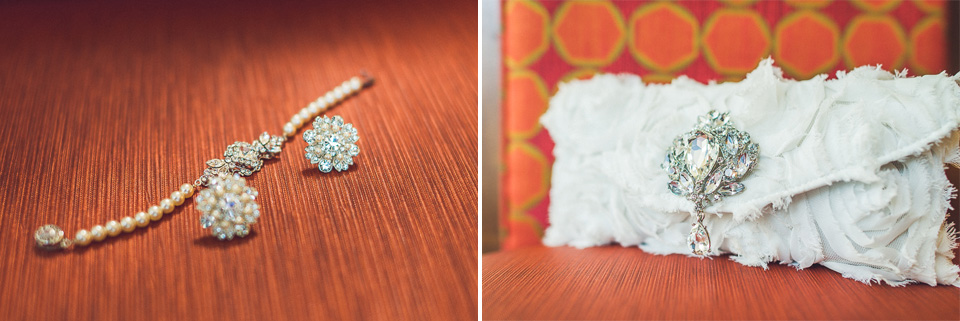 04 wedding earings - Downtown Chicago Wedding Photography // Mandy + Tim