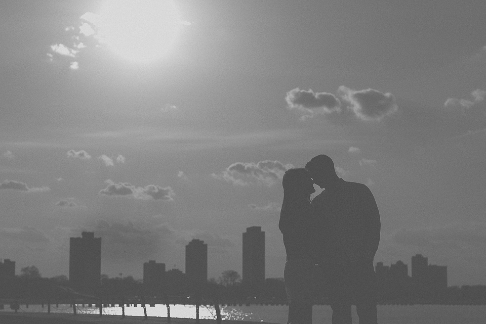 06 black and white of couple - Amy + Pat // Chicago Engagement Photography