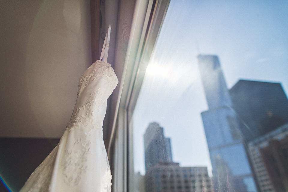 08 wedding dress in chicago - Downtown Chicago Wedding Photography // Mandy + Tim