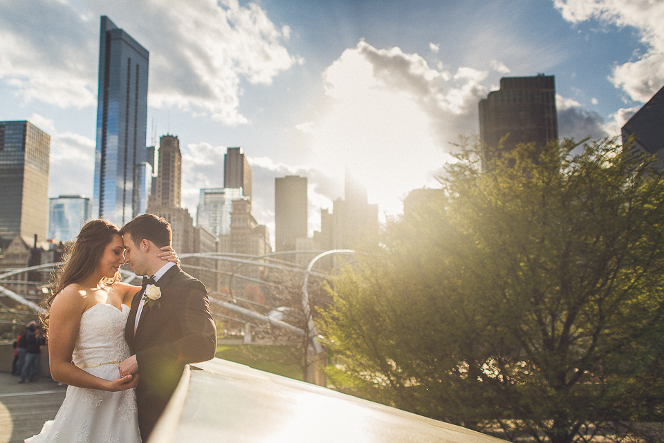 100 bride and groom at millenium park - Downtown Chicago Wedding Photography // Mandy + Tim