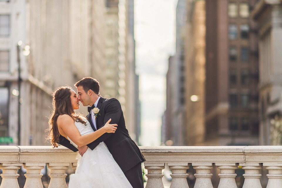 102 2 bride and groom in chicago - Downtown Chicago Wedding Photography // Mandy + Tim