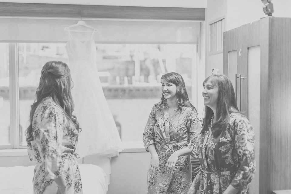 15 family laughing - Downtown Chicago Wedding Photography // Mandy + Tim