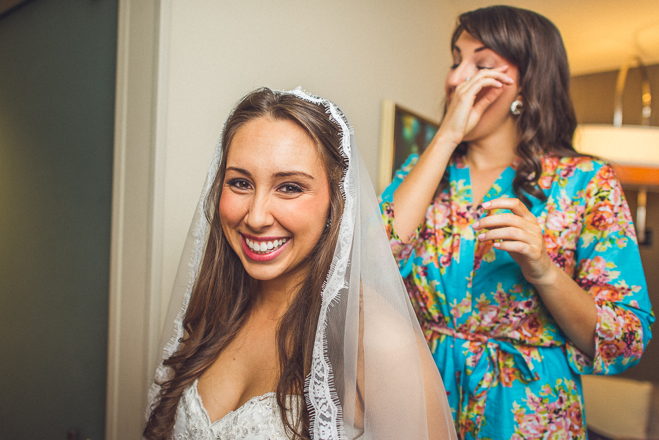 19 2 bride and sister crying - Downtown Chicago Wedding Photography // Mandy + Tim