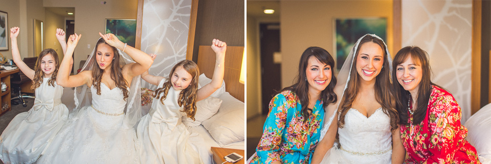 22 1 bride and nieces - Downtown Chicago Wedding Photography // Mandy + Tim