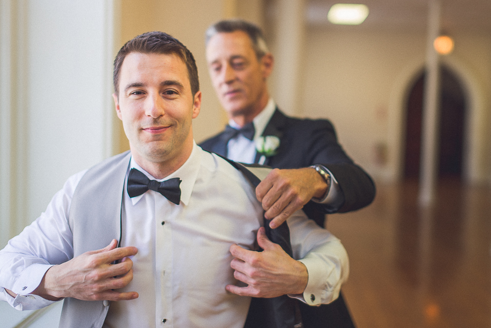 24 2 groom and father - Downtown Chicago Wedding Photography // Mandy + Tim
