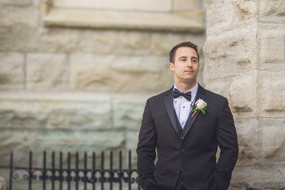 24 5 groom portrait looking great - Downtown Chicago Wedding Photography // Mandy + Tim