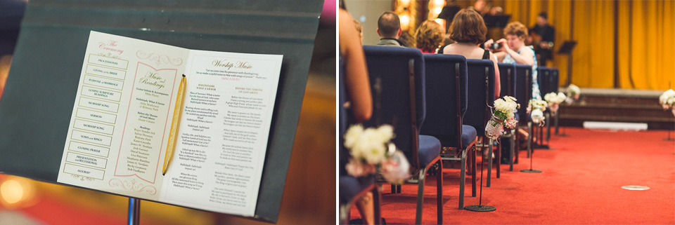 25 wedding program - Downtown Chicago Wedding Photography // Mandy + Tim