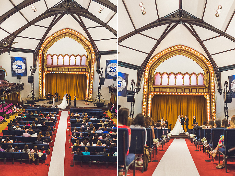 34 church wide shot - Downtown Chicago Wedding Photography // Mandy + Tim