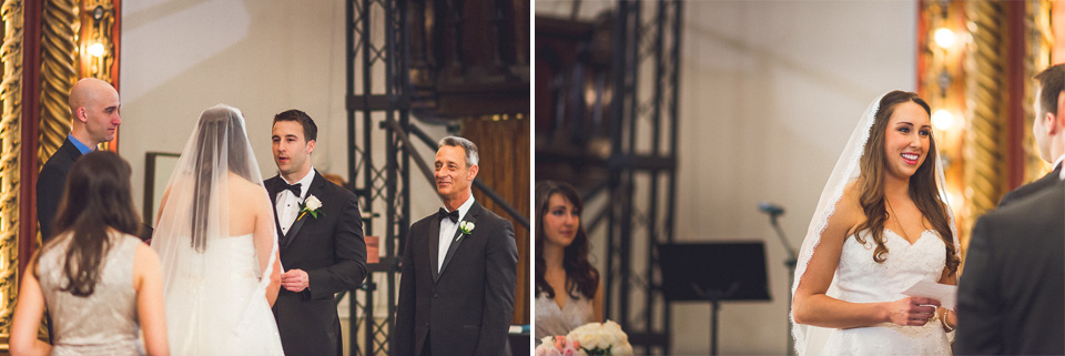 39 exchanging vows - Downtown Chicago Wedding Photography // Mandy + Tim