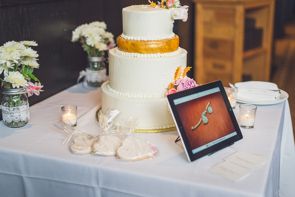 51 cake and ipad - Downtown Chicago Wedding Photography // Mandy + Tim