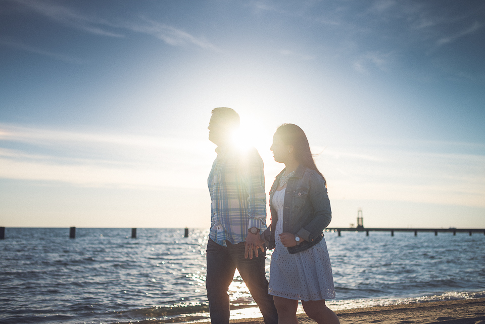 13 walking on the beach in chicago illinois - Juan + Carla // Downtown Chicago Lakefront Engagement Session