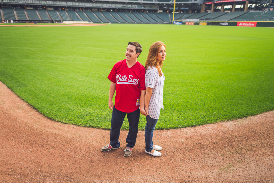 16 wide photo at us cellular field during engagement shoot