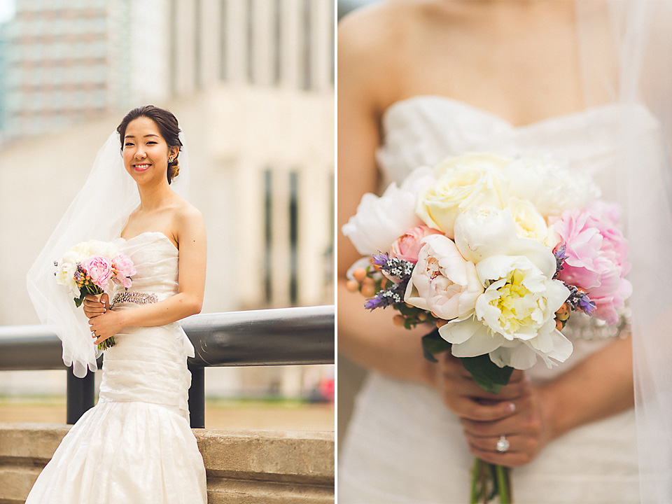 17 bride and bouquet in chicago - Michael + Haley // Chicago Wedding Photographer - Intercontinental Hotel