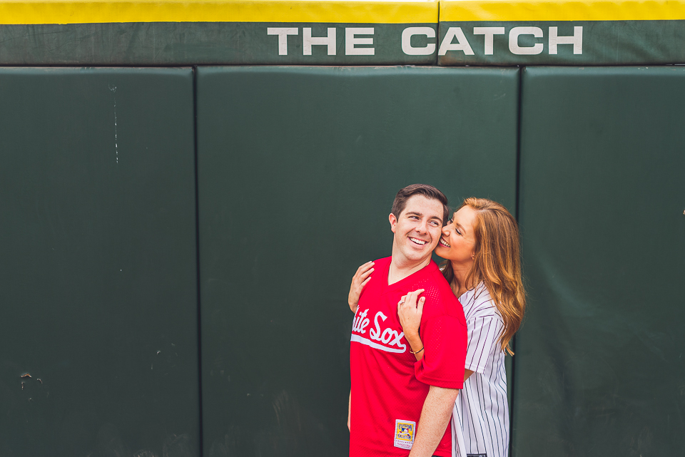 18 couple at sox park during engagement shoot