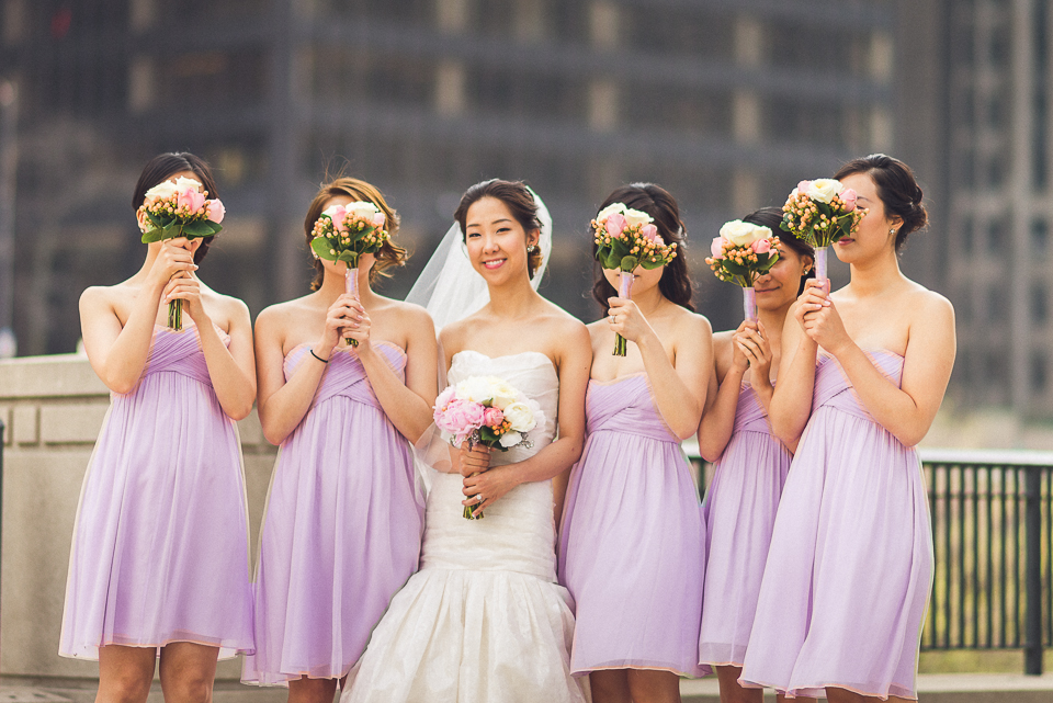 20 bride with bridesmaids at the chicago lakefront - Michael + Haley // Chicago Wedding Photographer - Intercontinental Hotel