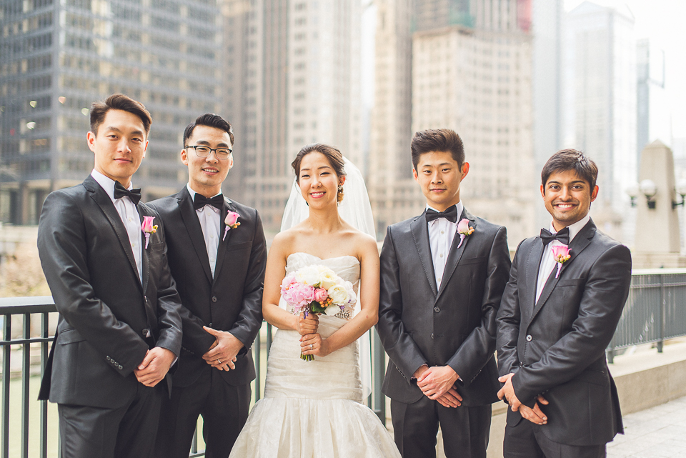 23 bride with groomsmen