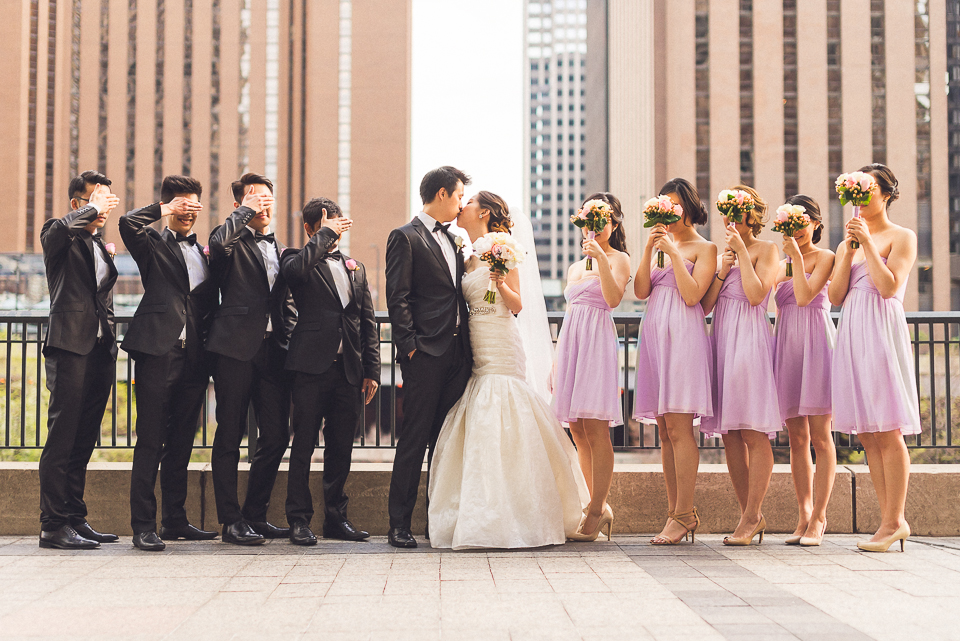 25 bridal party portrait in chicago illinois - Michael + Haley // Chicago Wedding Photographer - Intercontinental Hotel