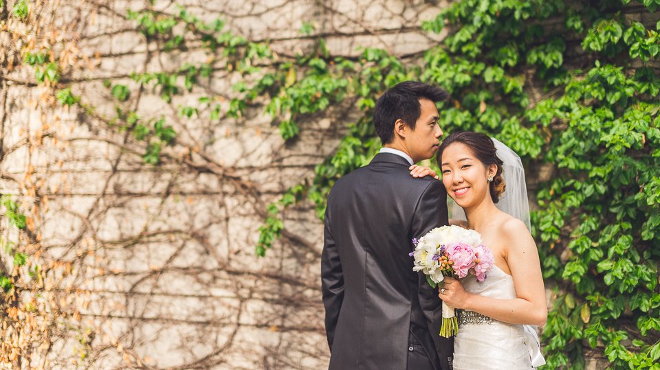 30 bride and groom by the chicago river - Michael + Haley // Chicago Wedding Photographer - Intercontinental Hotel