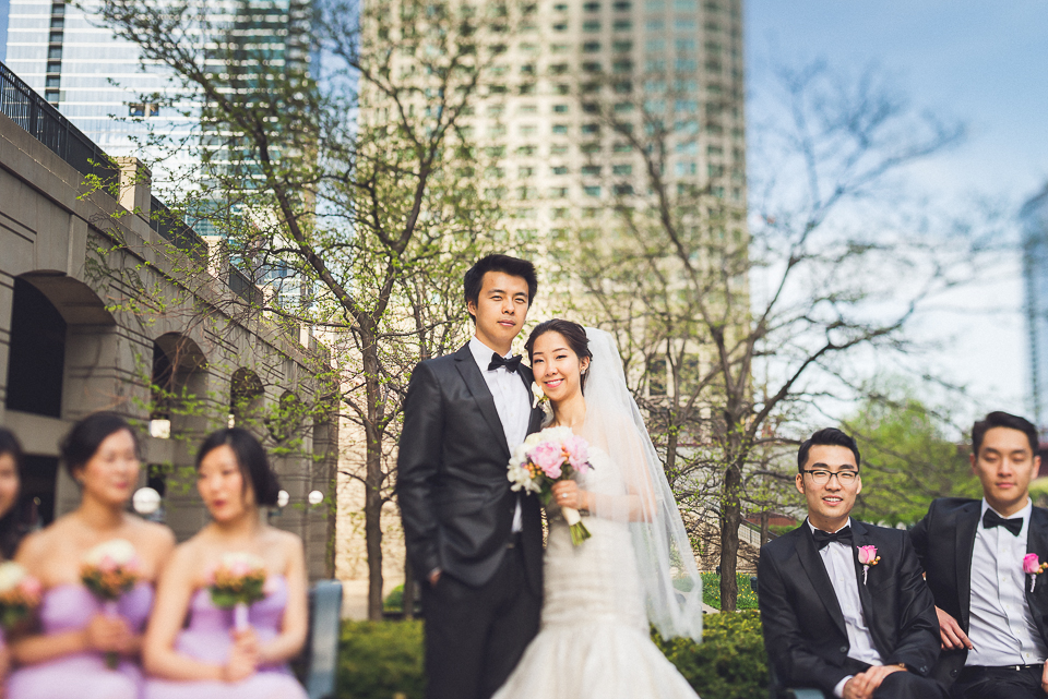 31 tilt shift of bridal party - Michael + Haley // Chicago Wedding Photographer - Intercontinental Hotel